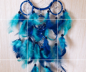 blue, dreamcatcher, and dreams image