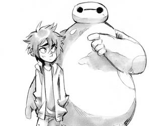 big hero 6, hiro hamada, and baymax image