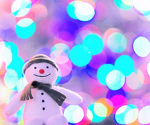 snowman, christmas, and light image