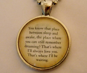 quote, peter pan, and necklace image