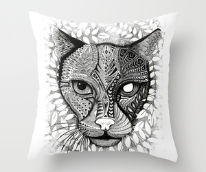 bed, home decor, and throw pillow image