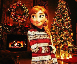 anna, christmas, and frozen image