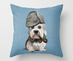 art illustration, bed, and dog image