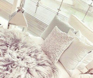 room, decor, and bed image