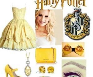 harry potter, hufflepuff, and fashion image