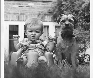 baby, gerrard gethings, and dog image