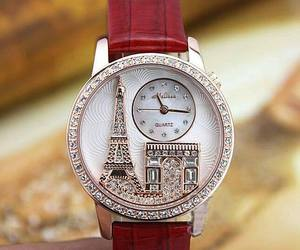 watch, paris, and red image