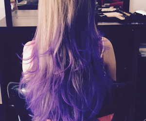 grunge, hair styles, and purple image