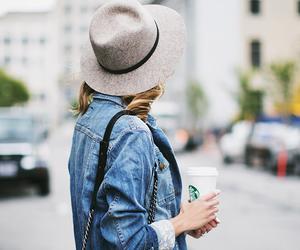 fashion, starbucks, and girl image