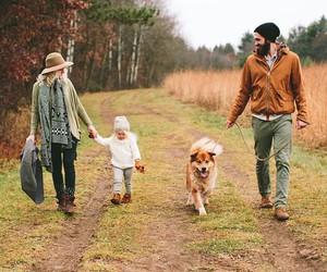 family, dog, and couple image