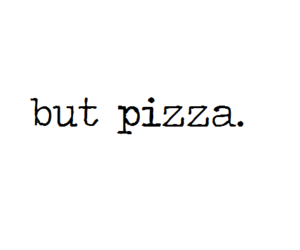 food, pizza, and quote image