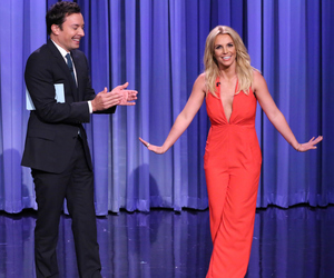 britney spears and jimmy fallon image