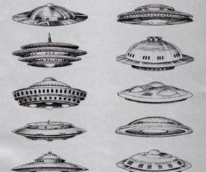 ufo, alien, and art image