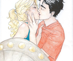 love, kiss, and percabeth image