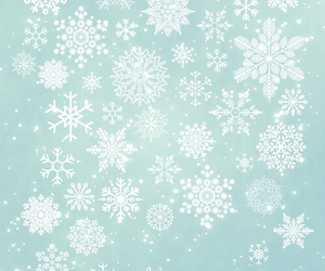 blue, snowflakes, and christmas image