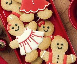 baking, biscuits, and christmas image