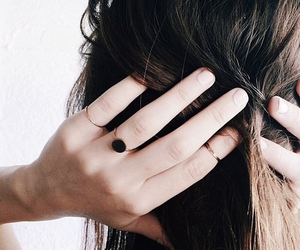 hair, rings, and hands image