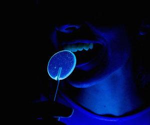 lollipops, black light, and food art image