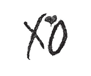 black and white, xo, and the weeknd image
