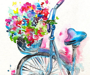 art, bicycle, and sweet image