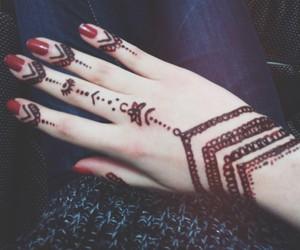 fashion, henna, and tattoo image