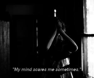 mind, sad, and black and white image