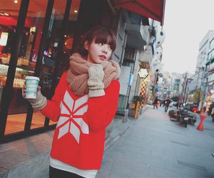 fashion, ulzzang, and coffee image