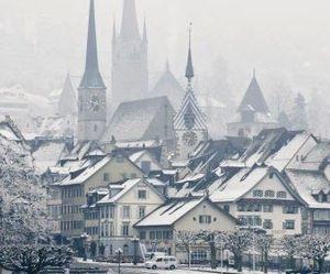 winter, snow, and switzerland image