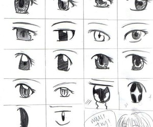 anime, eyes, and drawing image