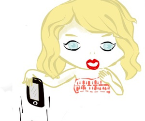 blank space, Taylor Swift, and cartoon image