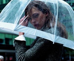 rain, umbrella, and model image