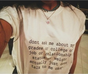 fashion, shirt, and quote image