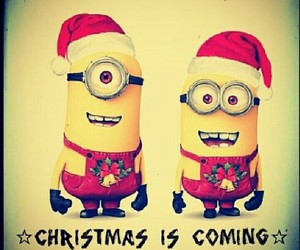 minions, christmas, and coming image