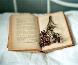 hipster, book, and flowers image