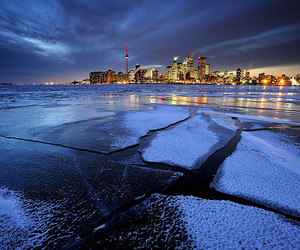 city and ice image