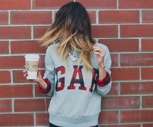 girl, GAp, and hair image