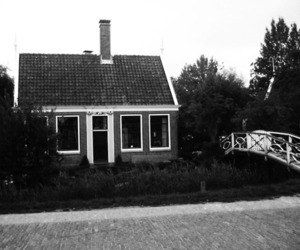 black, house, and black and white image