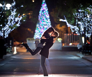 love, couple, and christmas image