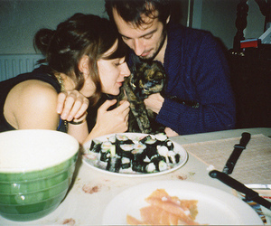 cat, couple, and girl image