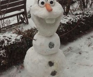 olaf, snowman, and snow image