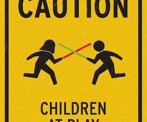 caution, star wars, and children image