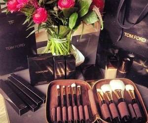 tom ford, flowers, and make up image