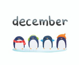 christmas, december, and penguin image