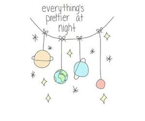 planets, night, and cute image