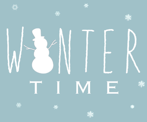 season, snowman, and time image