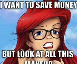 disney, funny, and makeup image