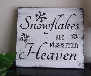heaven, kisses, and snowflakes image