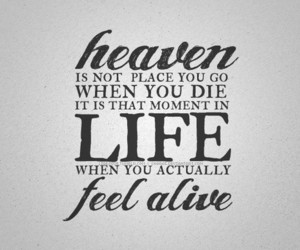 heaven, life, and quote image