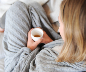 blonde, coffee, and cozy image