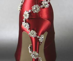 fashion, heels, and red heels image